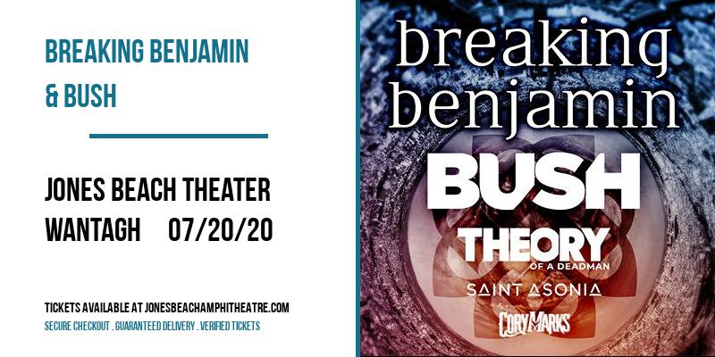 Breaking Benjamin & Bush at Jones Beach Theater