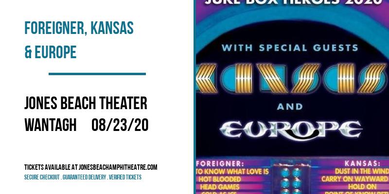 Foreigner, Kansas & Europe at Jones Beach Theater