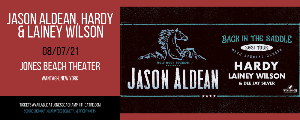 Jason Aldean, Hardy & Lainey Wilson at Jones Beach Theater