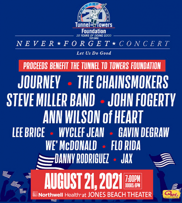 Never Forget Concert: Journey, The Chainsmokers & Steve Miller Band at Jones Beach Theater